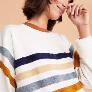 Lou & Grey Fuzzstripe Terry Sweatshirt - Size S